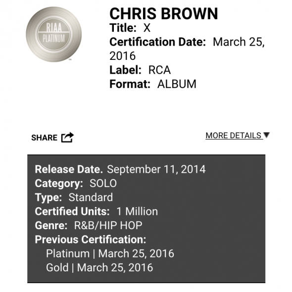 Chris Brown X Platinum